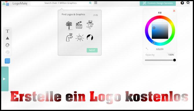 Webseiten icons erstellen mit logomakr webseite